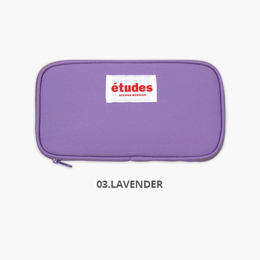 Lavender - Second Mansion Etudes zip around fabric pencil case pouch