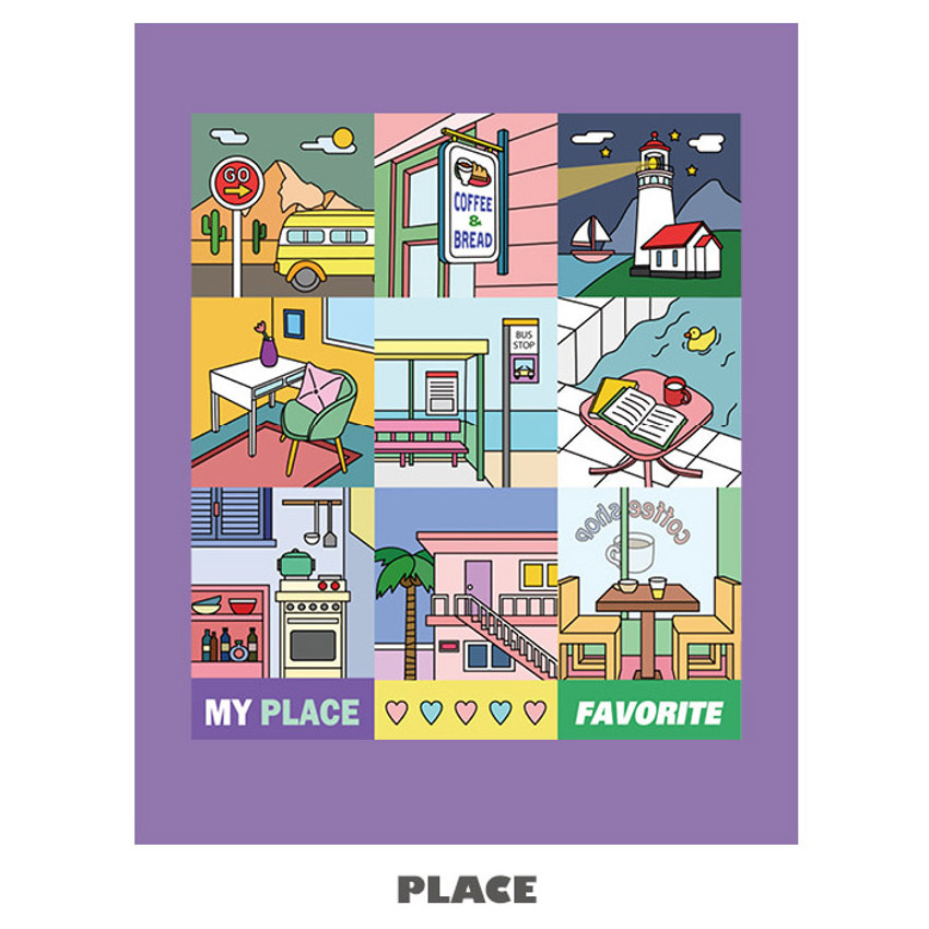 Place - Ardium Square paper point deco sticker