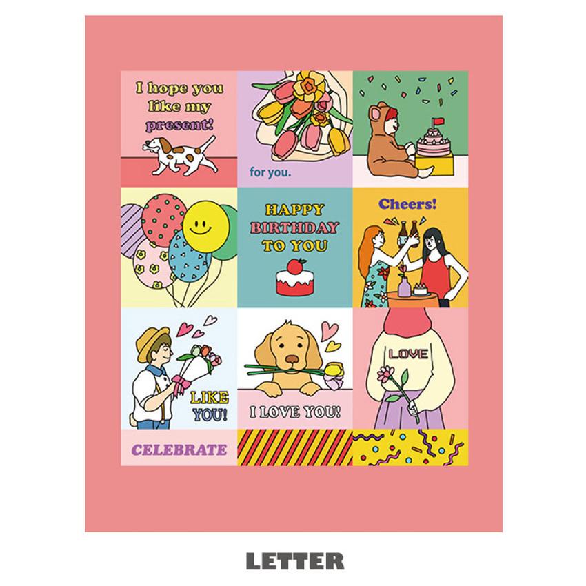 Letter - Ardium Square paper point deco sticker