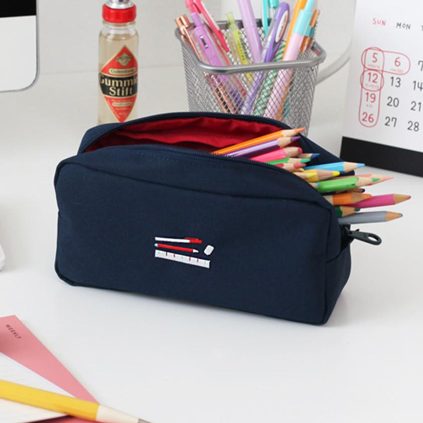 Large space - 2NUL Bulky zipper pencil case pen pouch