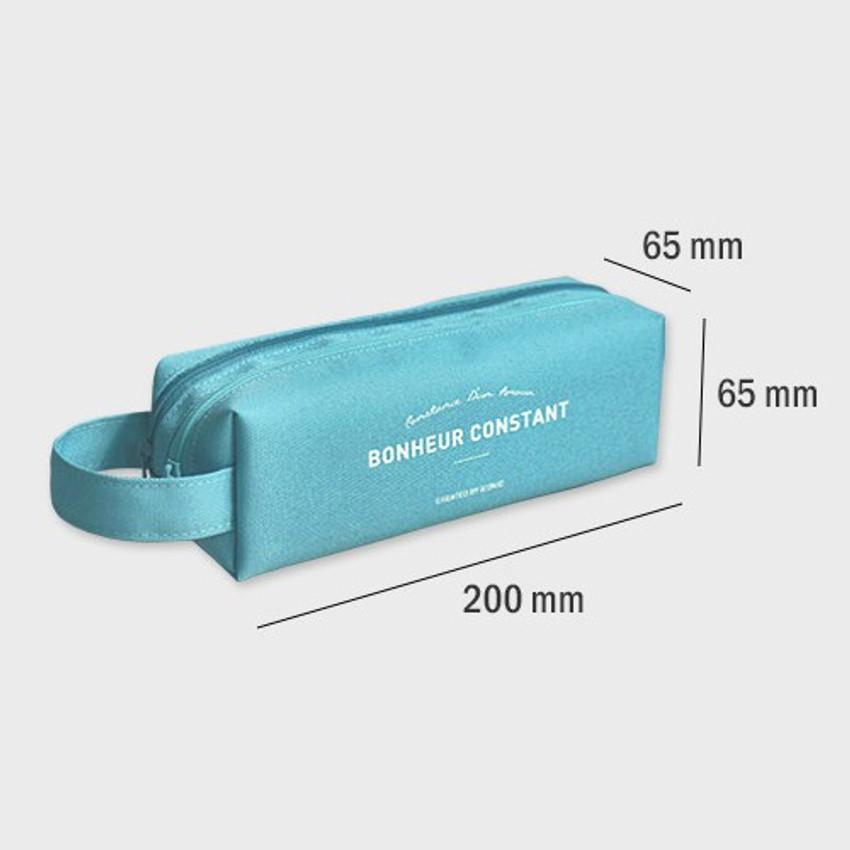 Size - ICONIC Bonheur constant double zipper pencil case pen pouch