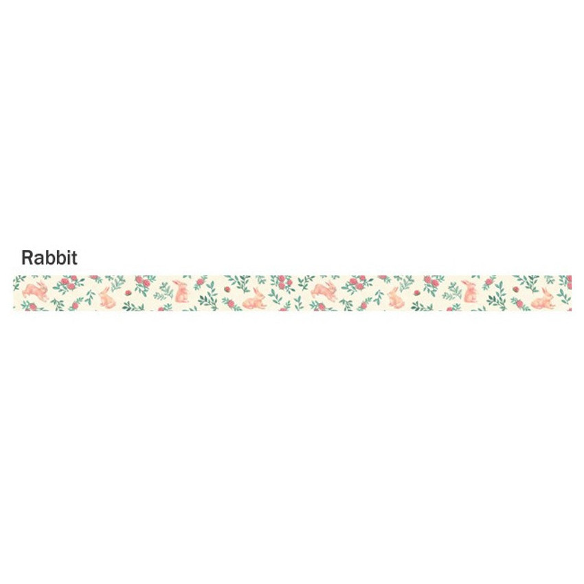 Rabbit - ICONIC Flower pattern paper deco masking tape