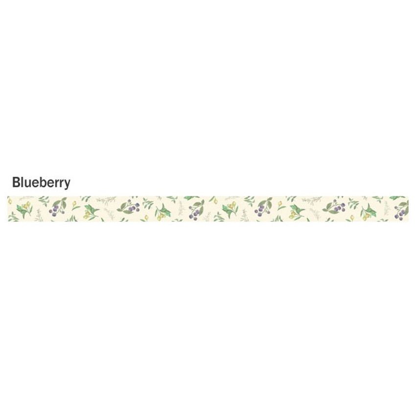 Blueberry - ICONIC Flower pattern paper deco masking tape