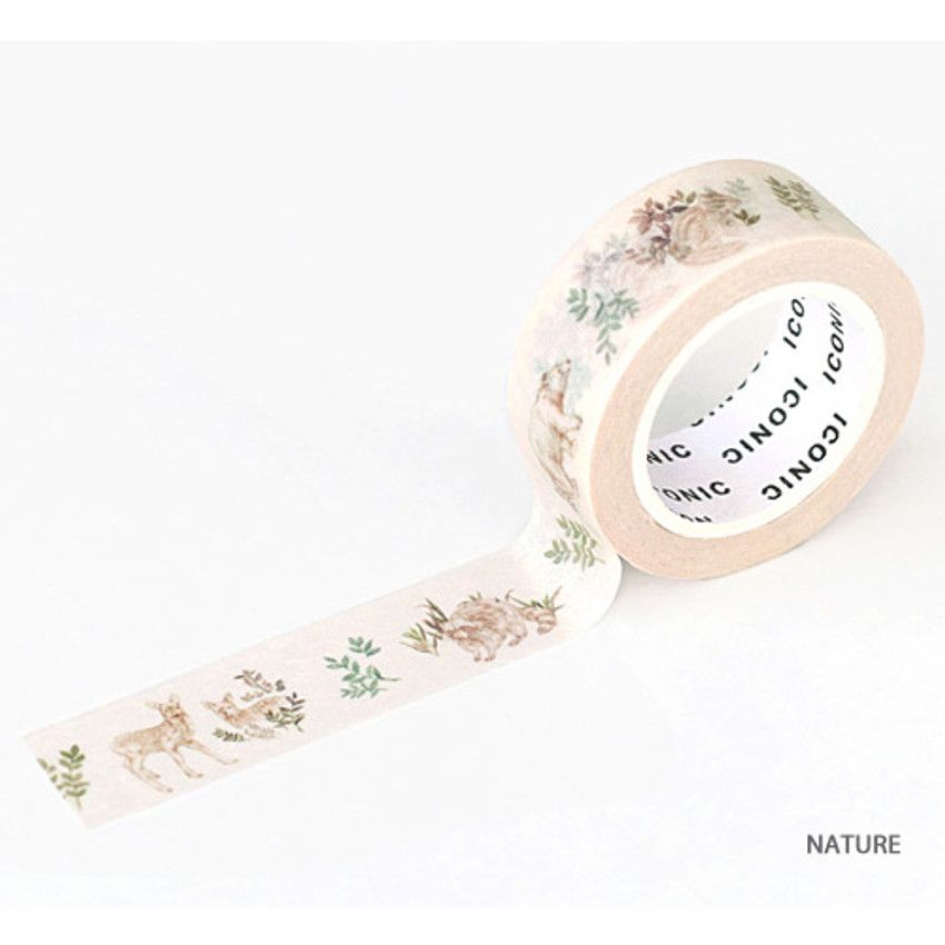Nature - ICONIC Flower pattern paper deco masking tape