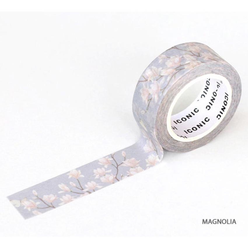Magnolia - ICONIC Flower pattern paper deco masking tape