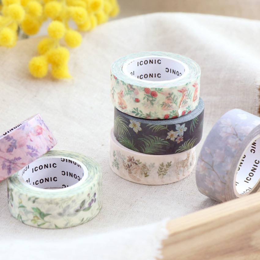 ICONIC Flower pattern paper deco masking tape