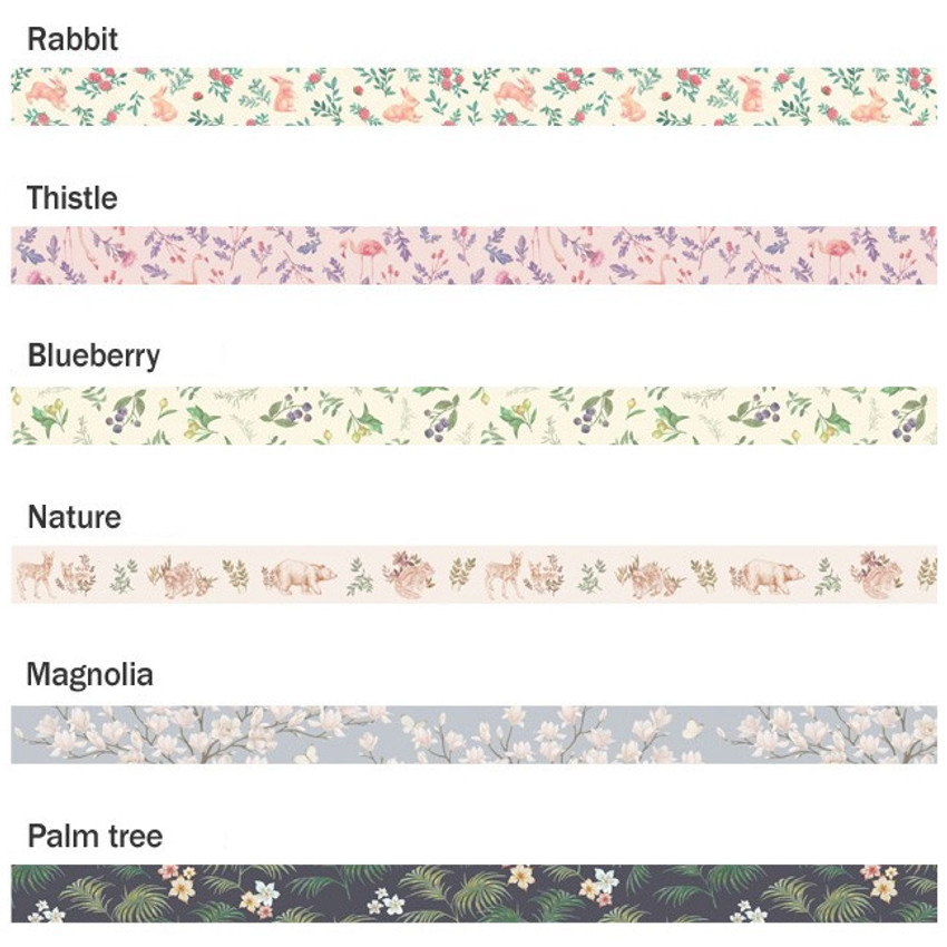 Option - ICONIC Flower pattern paper deco masking tape