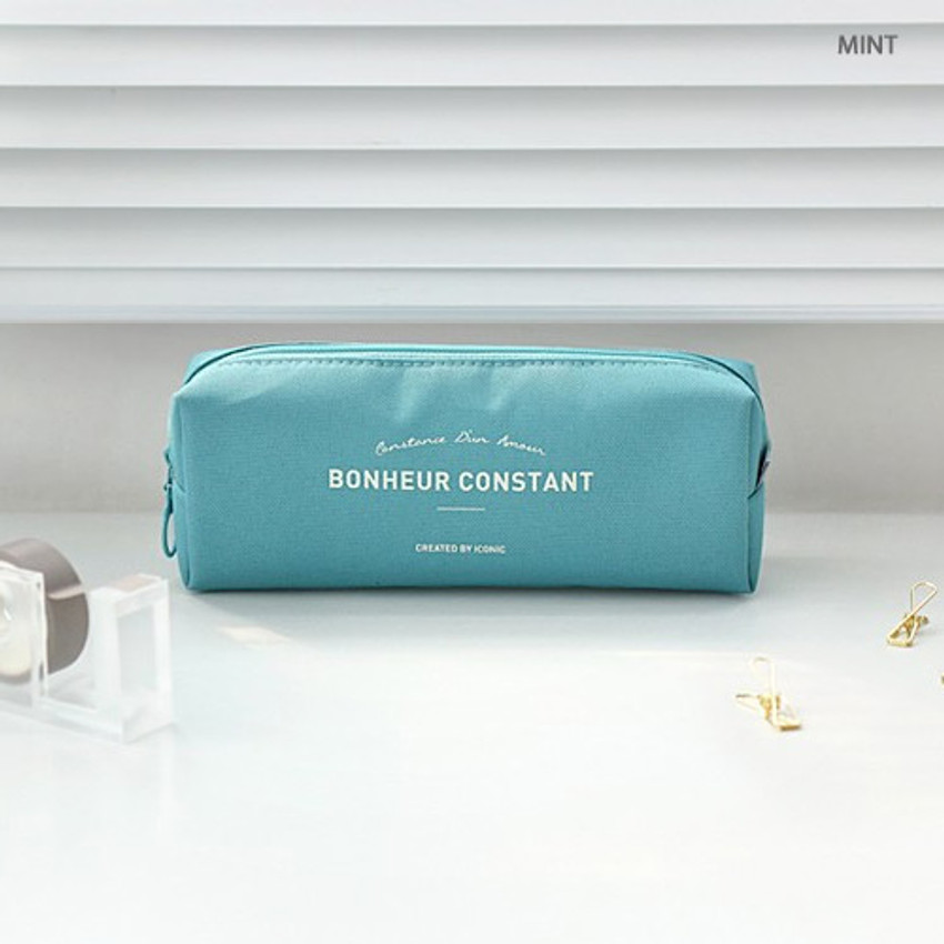 Mint - ICONIC Bonheur constant zipper pencil case pen pouch