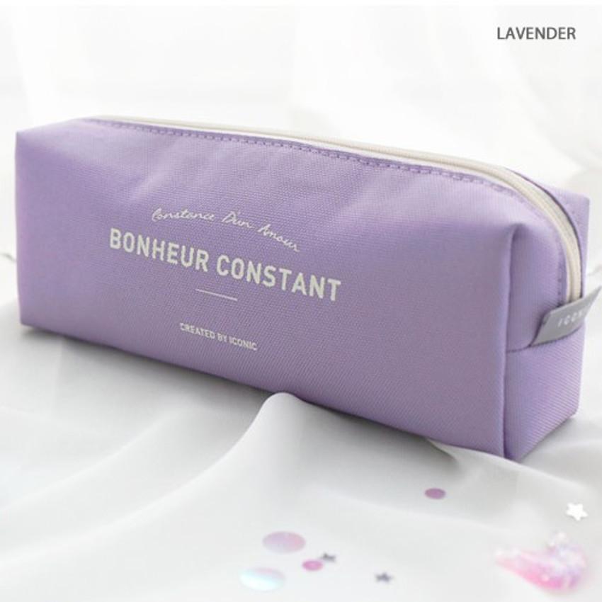 Lavender - ICONIC Bonheur constant zipper pencil case pen pouch
