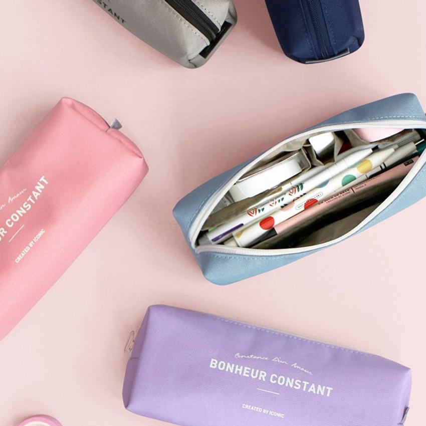 ICONIC Bonheur constant zipper pencil case pen pouch