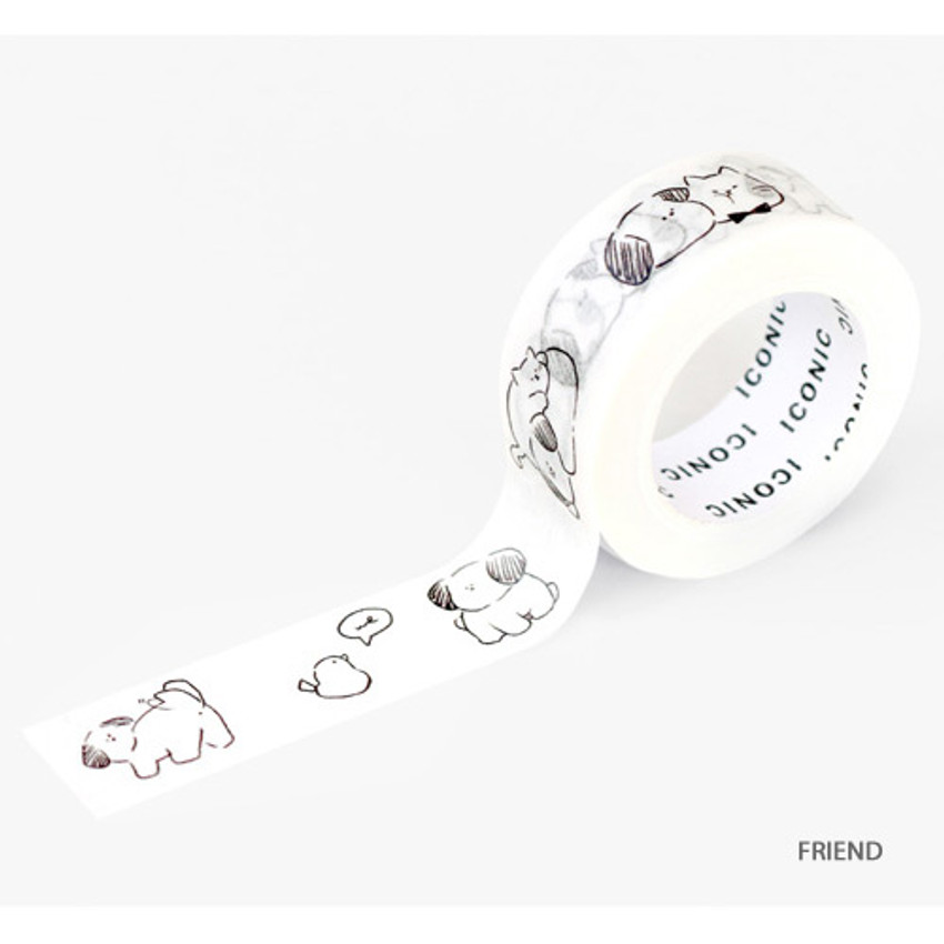 Friend - ICONIC Emotion pattern paper deco masking tape