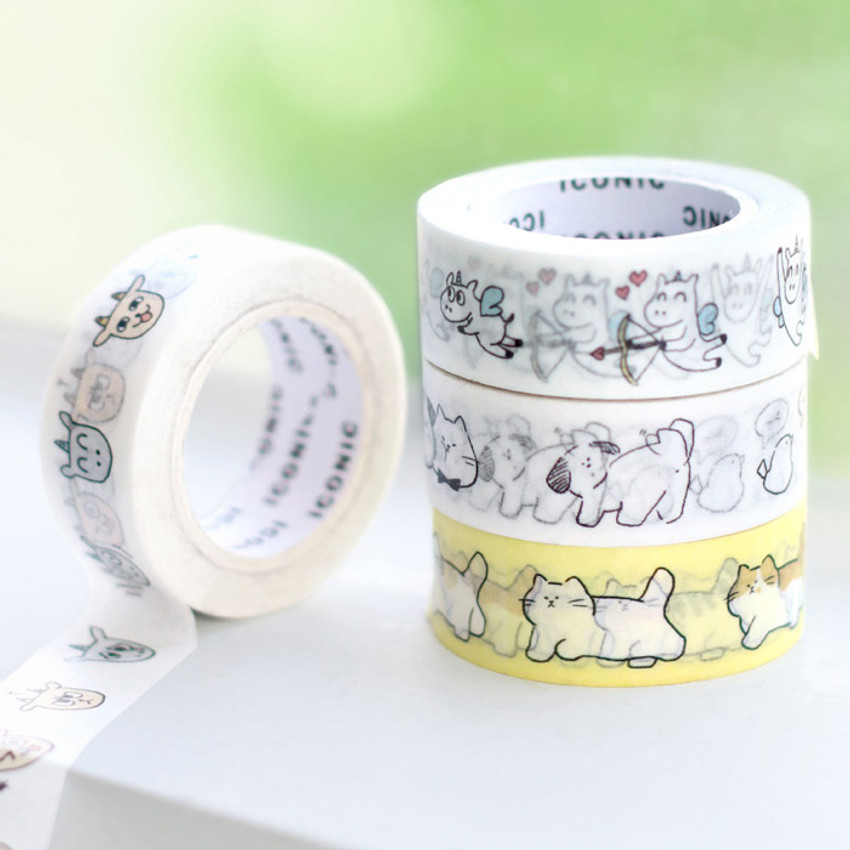 ICONIC Emotion pattern paper deco masking tape