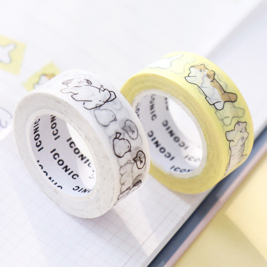 Example of use - ICONIC Emotion pattern paper deco masking tape