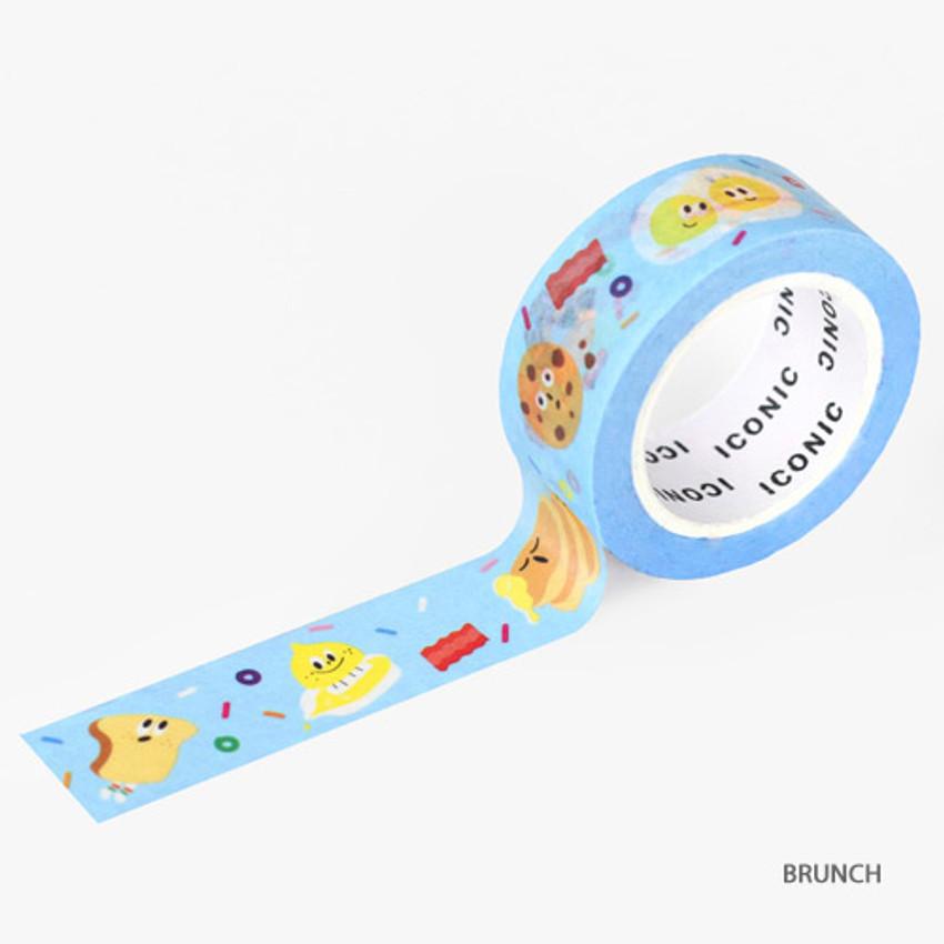 Brunch - ICONIC Enjoy pattern paper deco masking tape