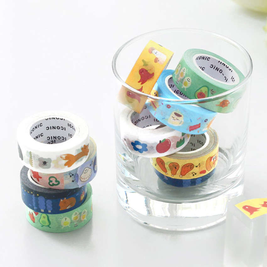 ICONIC Enjoy pattern paper deco masking tape
