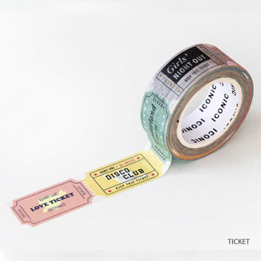 Ticket - ICONIC Vintage pattern paper deco masking tape