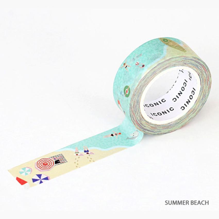 Summer beach - ICONIC Season pattern paper deco masking tape