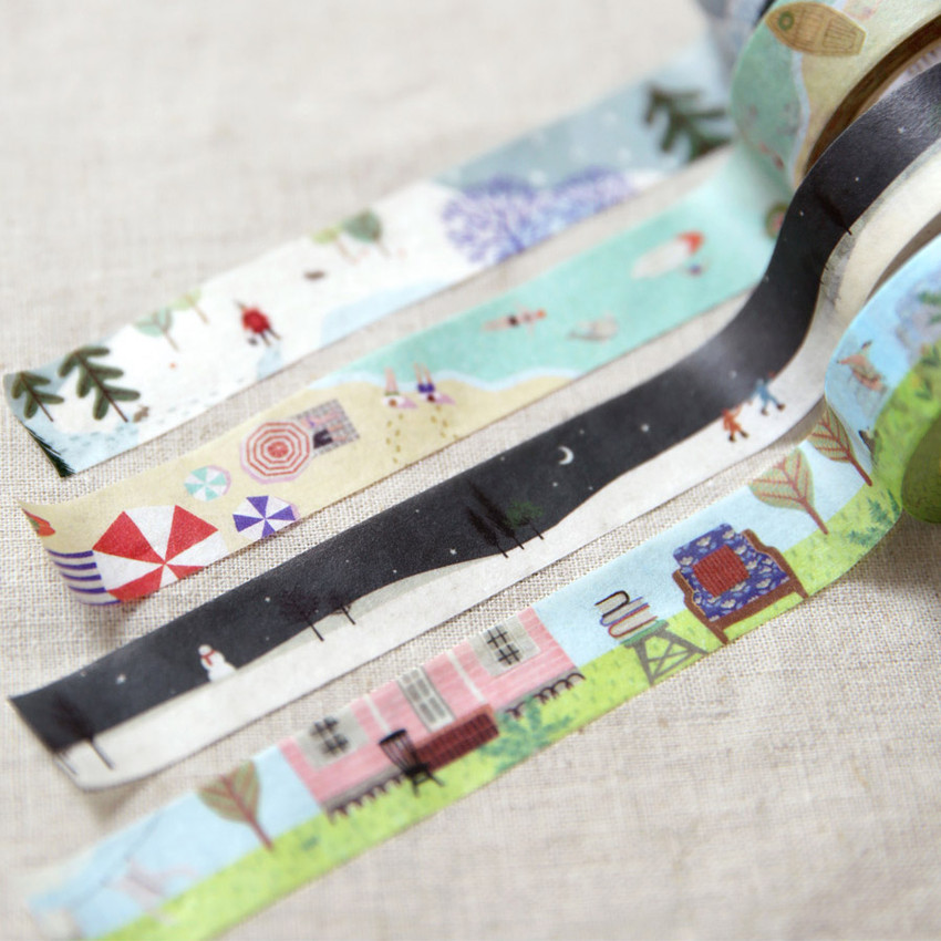 Example of use - ICONIC Season pattern paper deco masking tape