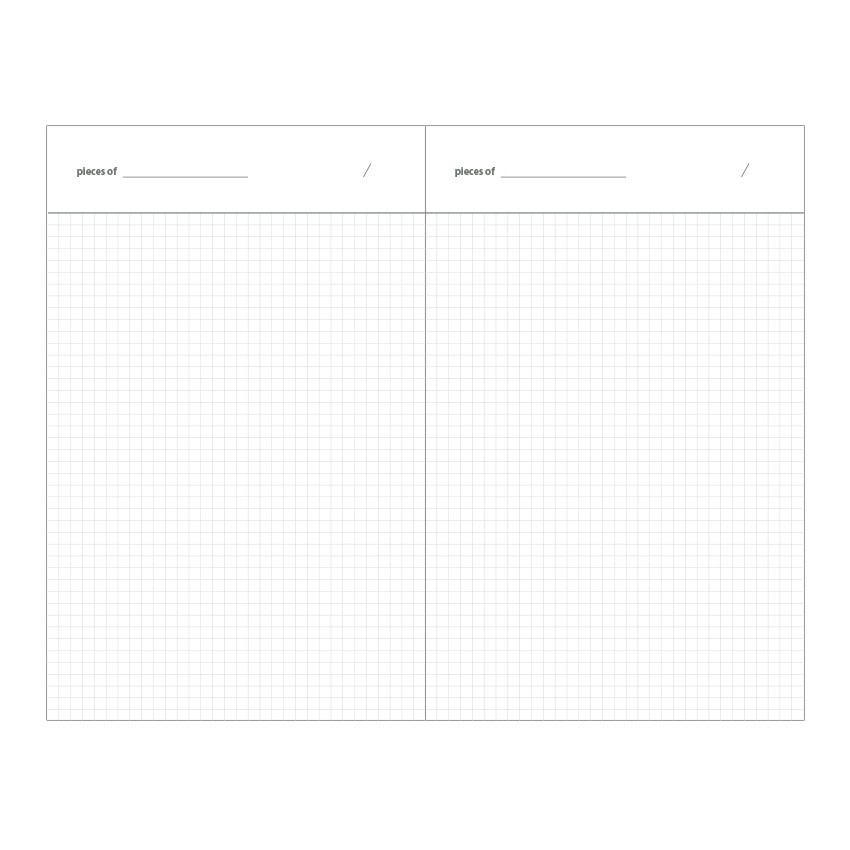 Grid pages - Livework Life and pieces small grid notebook