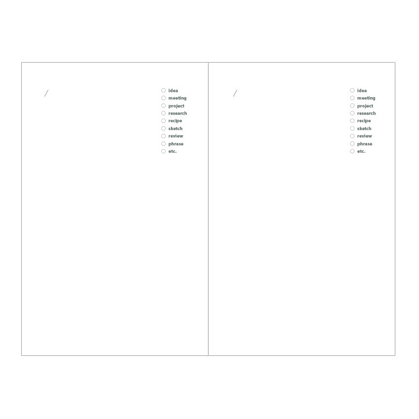 Idea pages - Livework Life and pieces small idea blank notebook
