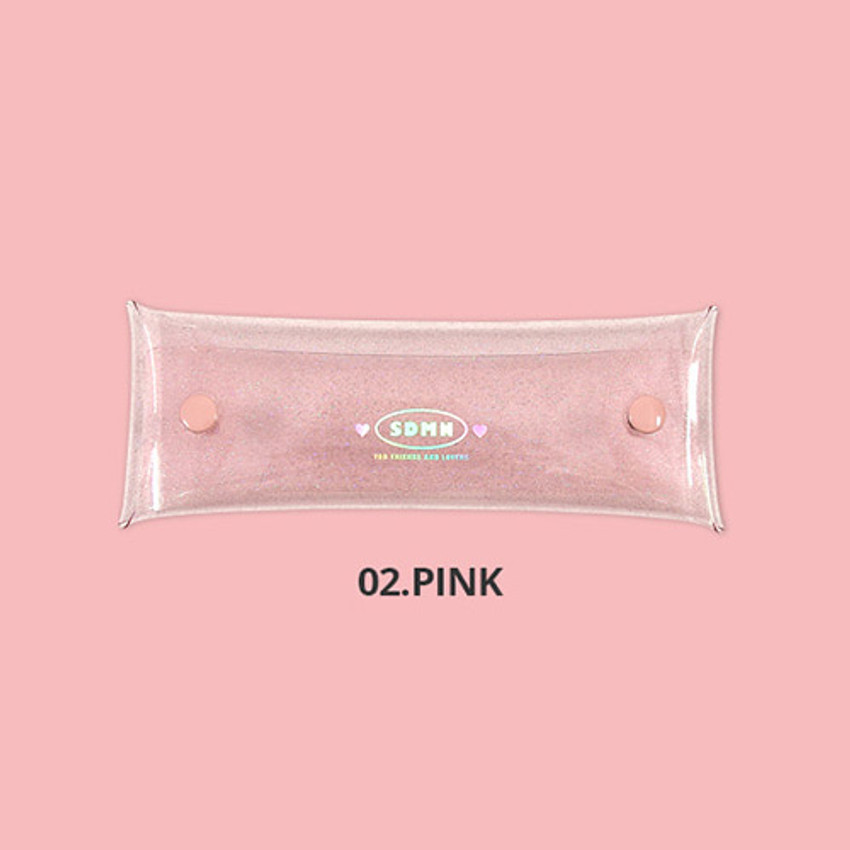 Pink - Second Mansion Moonlight twinkle folding pencil case pouch