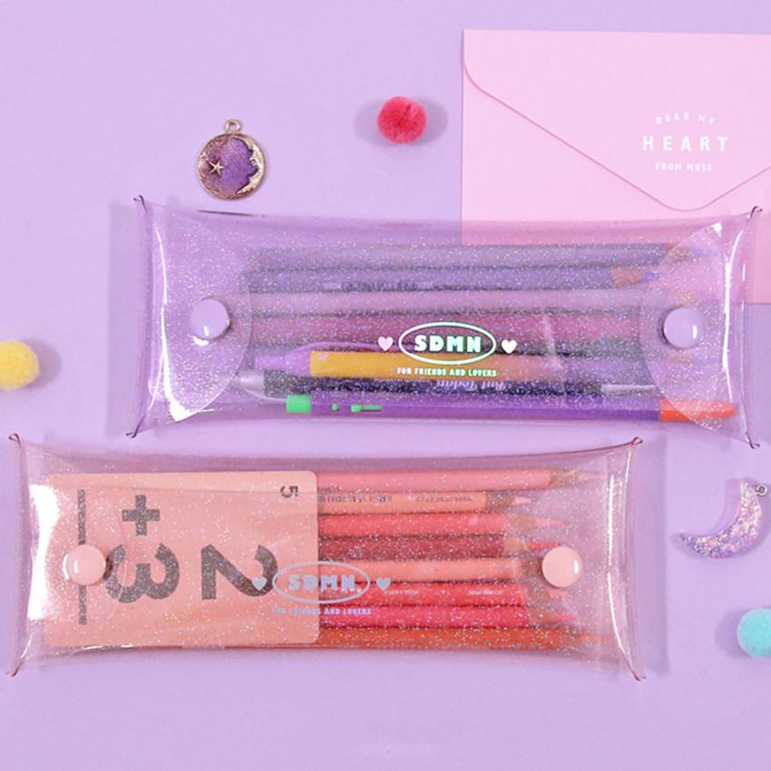 Moonlight twinkle folding pencil case pouch