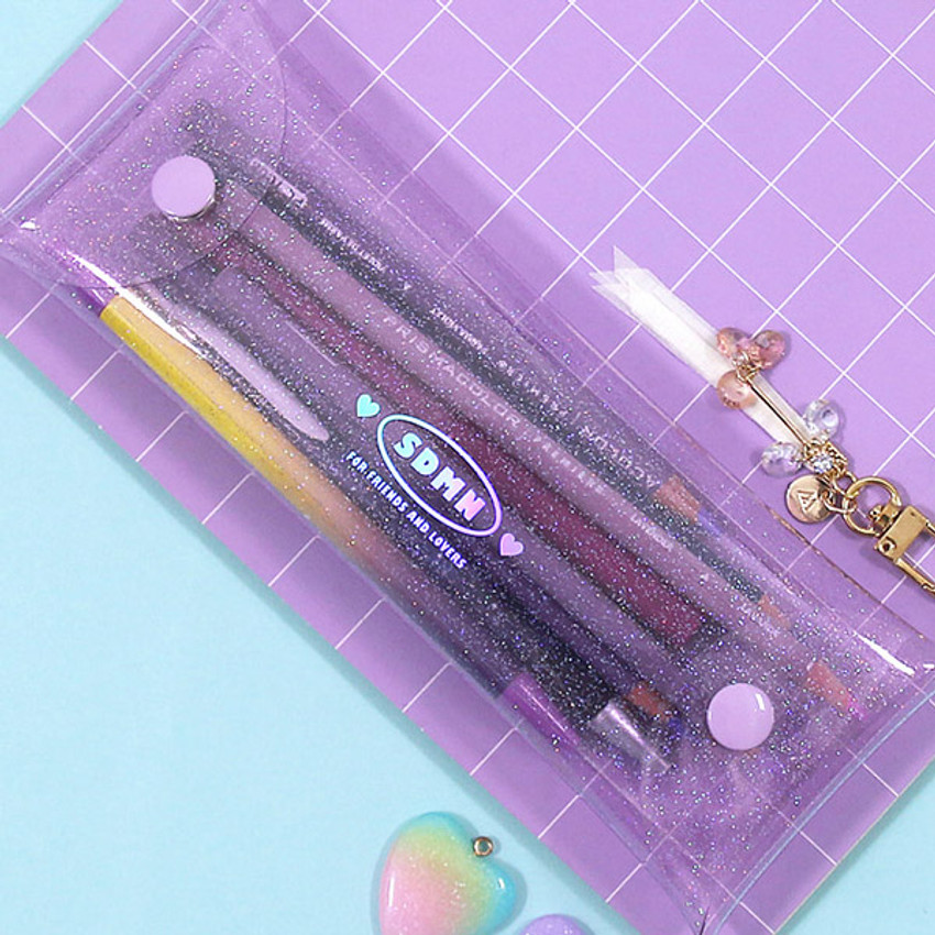 Example of use - Second Mansion Moonlight twinkle folding pencil case pouch