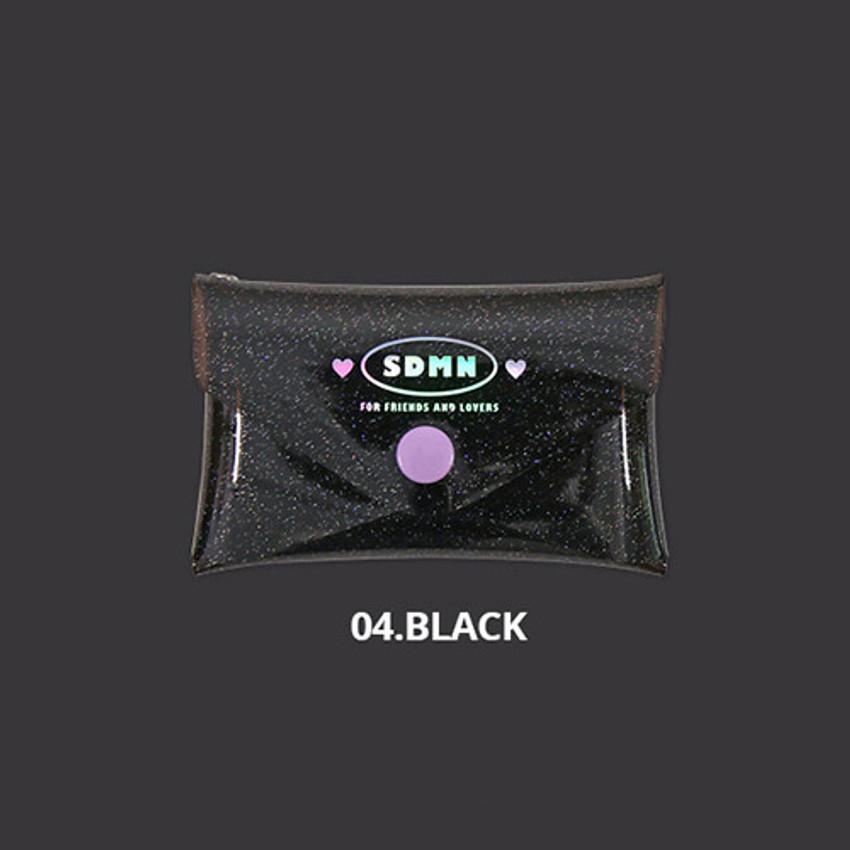 Black - Second Mansion Moonlight twinkle folding card case wallet