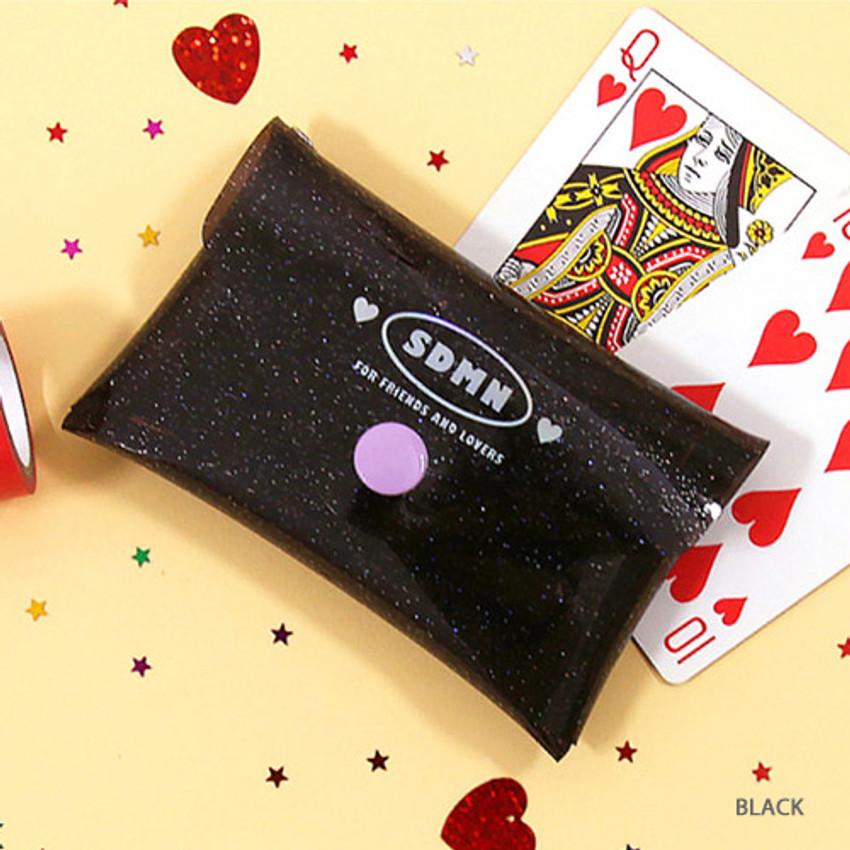 Moonlight twinkle folding card case wallet