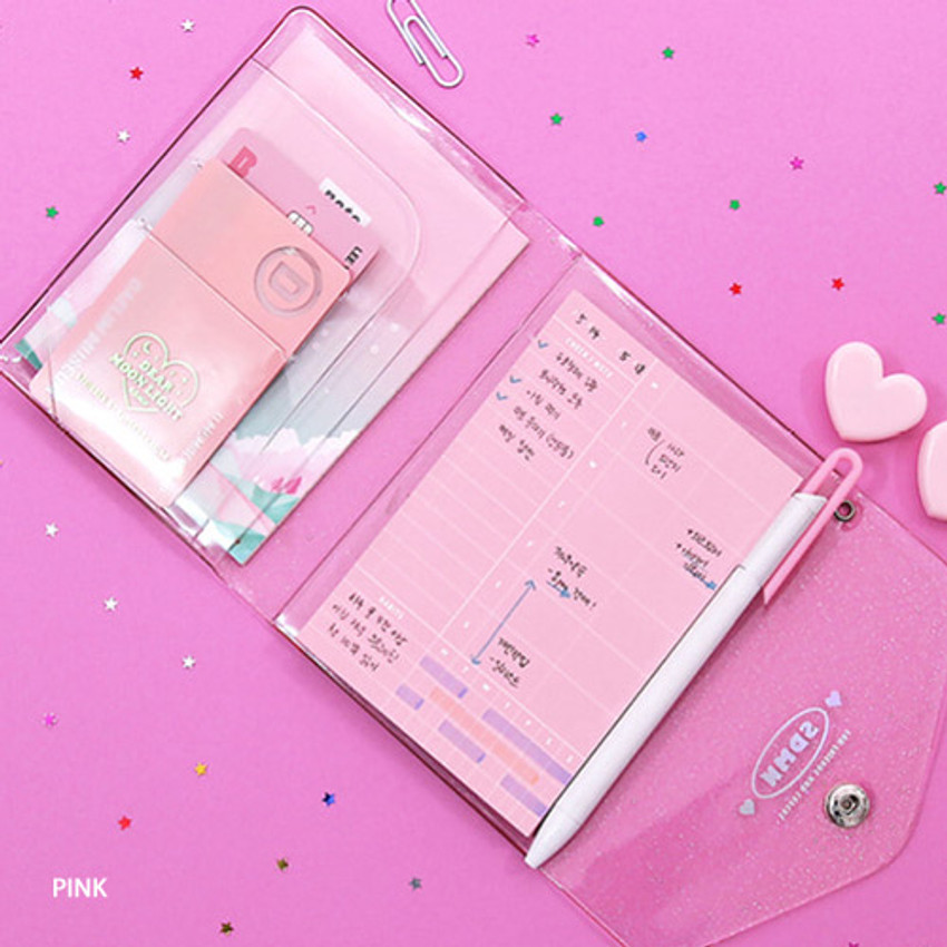 Pink - Second Mansion Moonlight twinkle notepad notebook organizer