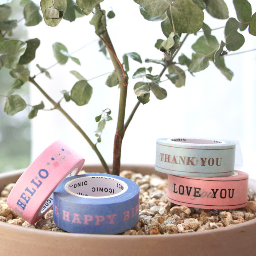 ICONIC Message pattern paper deco masking tape