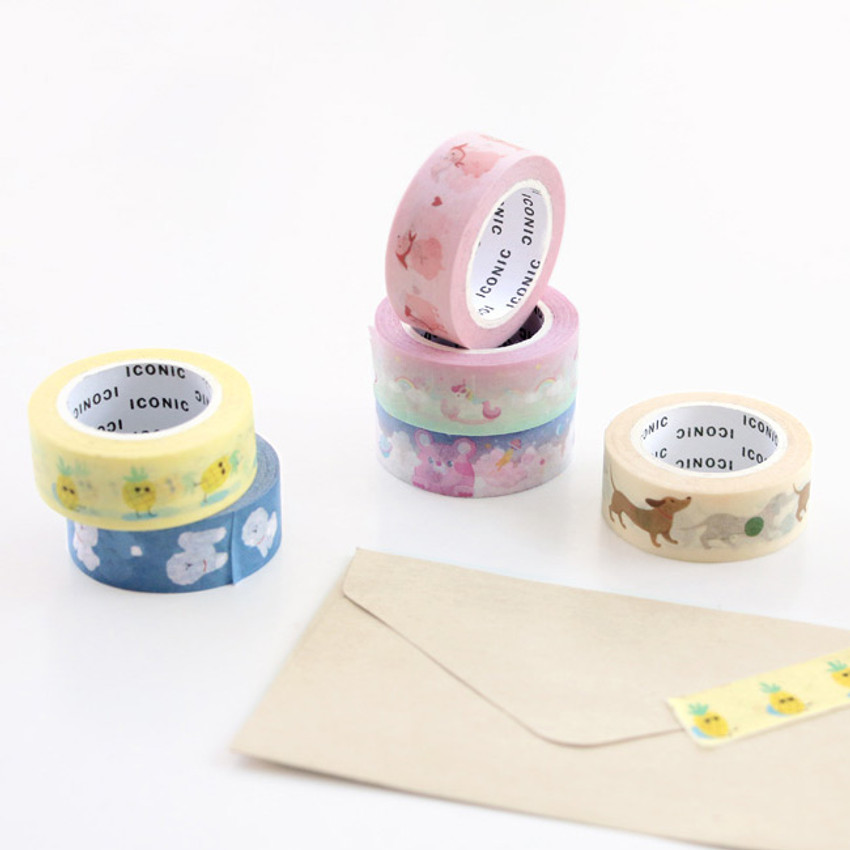 Example of use - ICONIC Buddy pattern paper deco masking tape