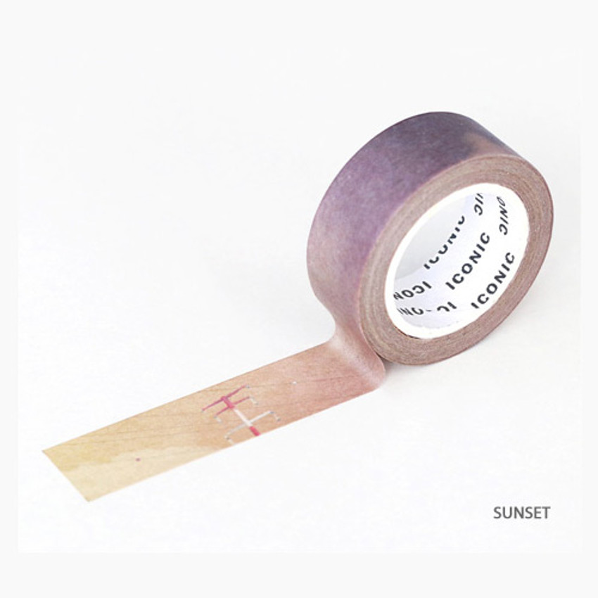 Sunset - ICONIC Gradation pattern paper deco masking tape