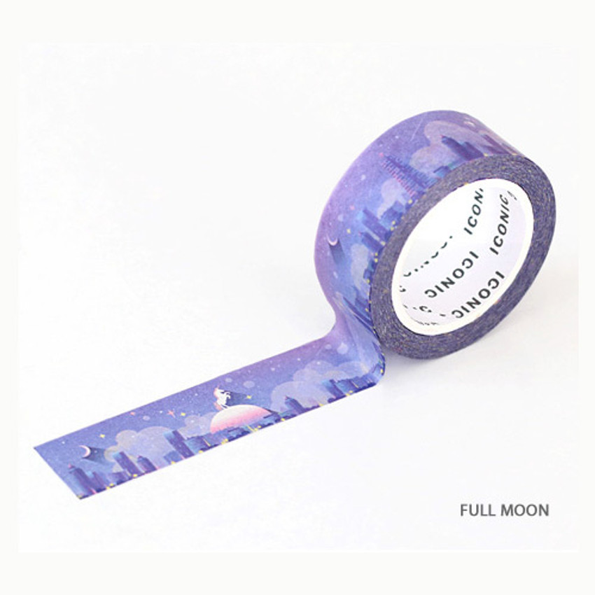 Full moon - ICONIC Gradation pattern paper deco masking tape