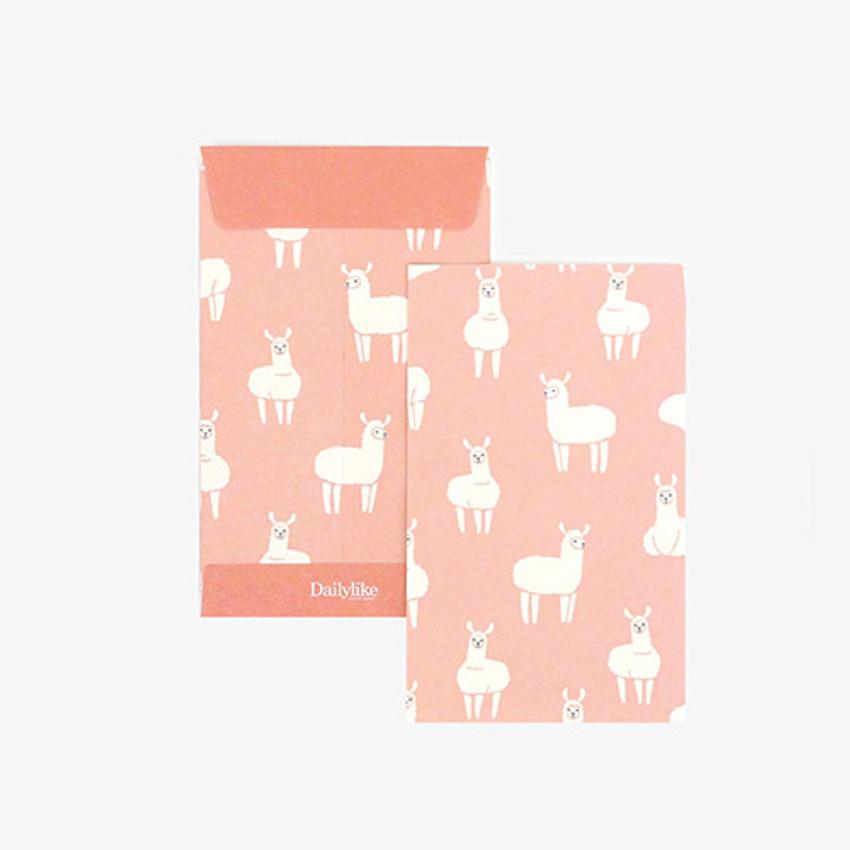 Dailylike Llama small card and envelope set