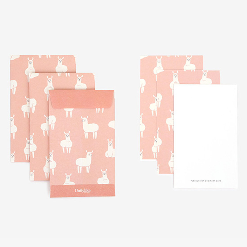 Composition - Dailylike Llama small card and envelope set