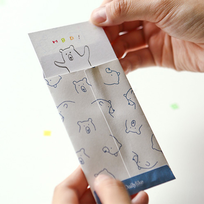 Example of use - Dailylike Bear small card and envelope set