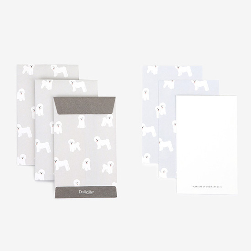 Composition - Dailylike Bichon small card and envelope set