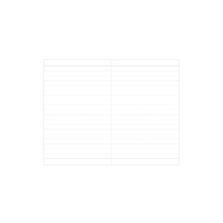 Lined pages - Indigo Prism 180 pages small lined notebook with elastic band