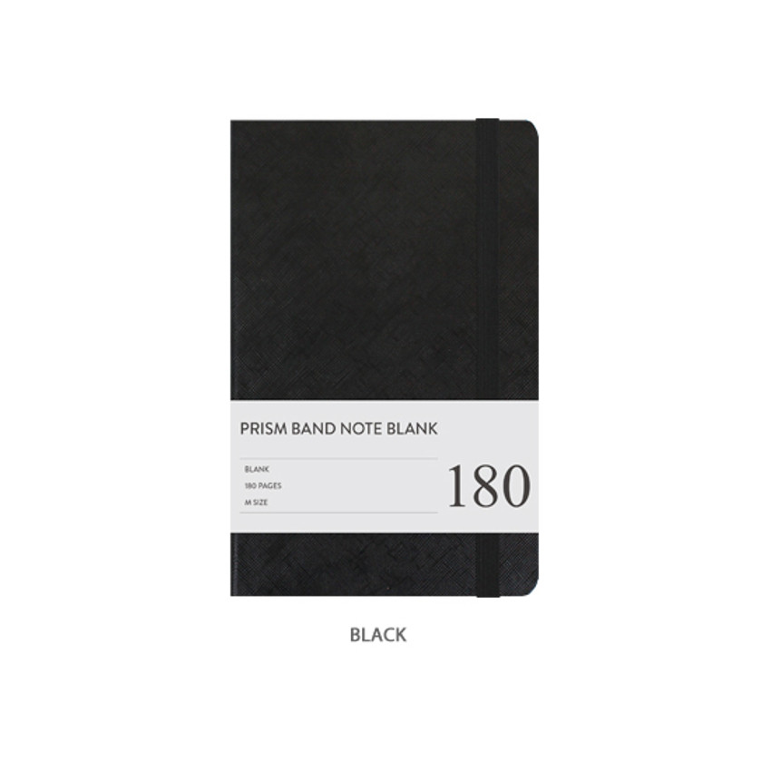Navy - Prism 180 pages medium blank notebook with elastic band