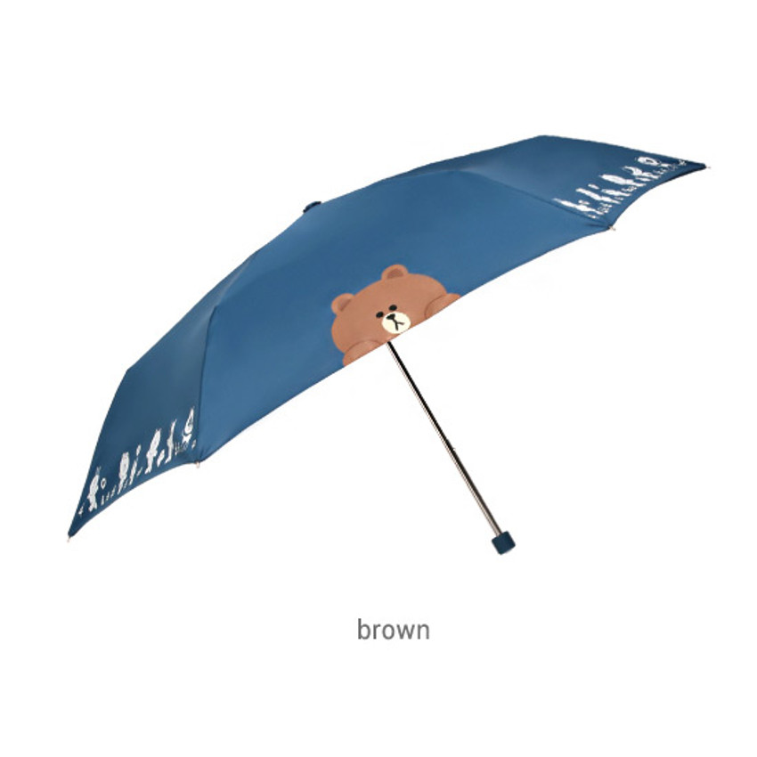 Brown - Monopoly Line friends ultralight 3 layer umbrella