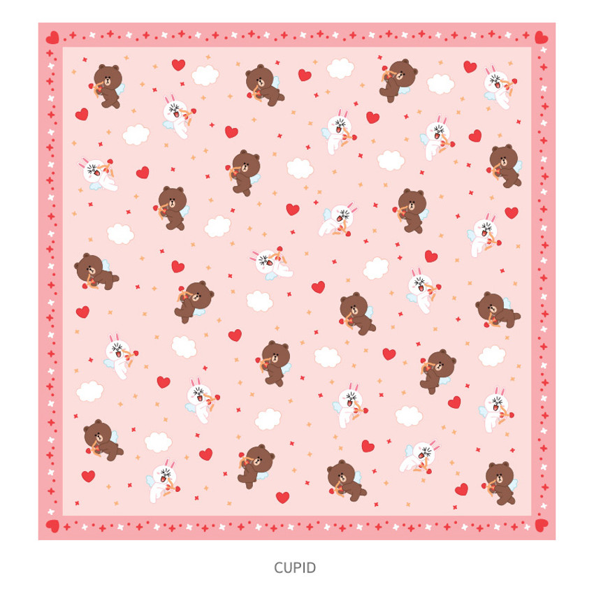 Cupid - Monopoly Line friends breeze squared edge hankie handkerchief