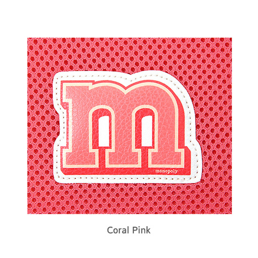 Coral pink - Monopoly Airmesh 15 inches laptop case pouch bag