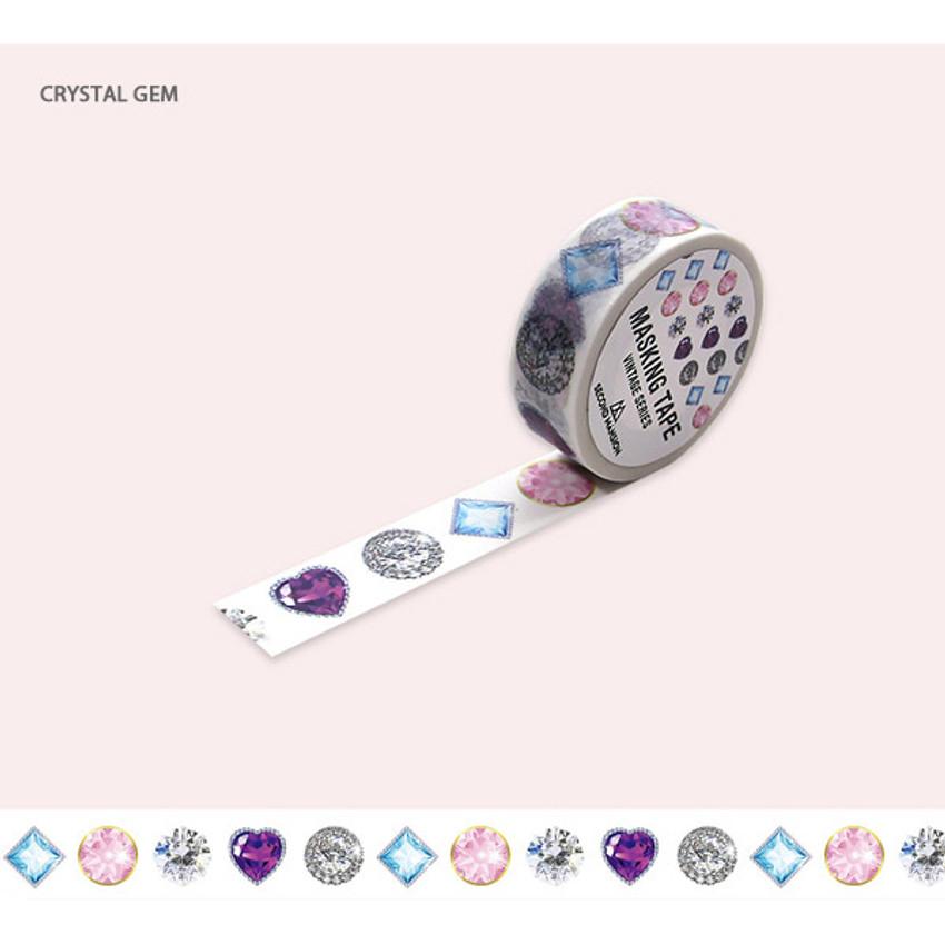 Crystal gem - Jewelry pattern 15mm wide deco masking tape