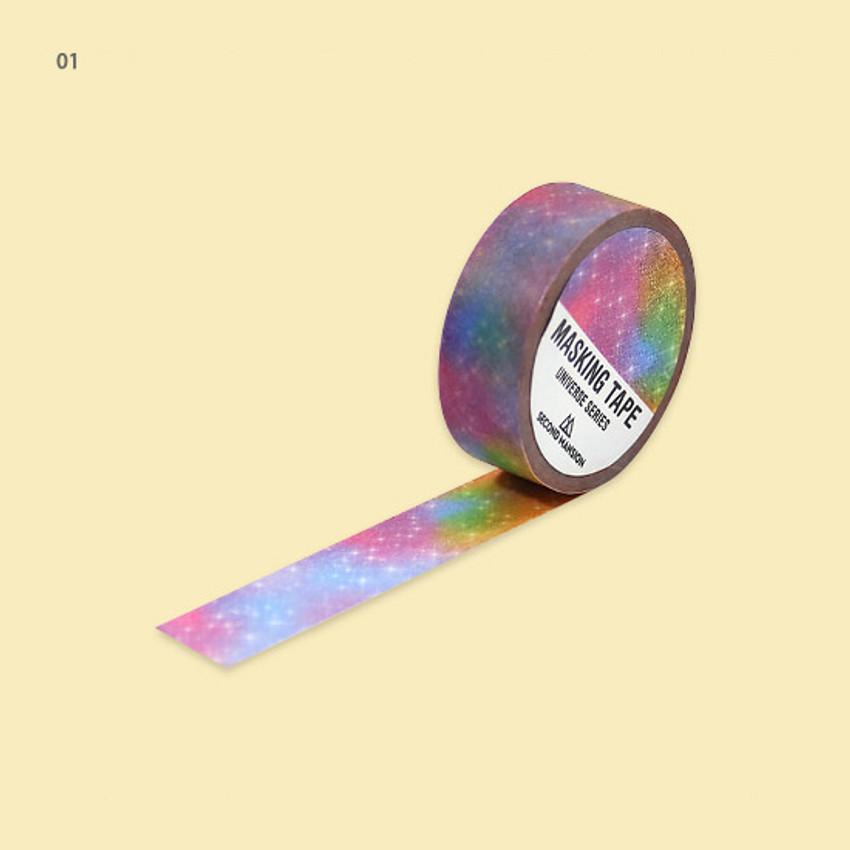 01 - Universe pattern 15mm width deco masking tape 06