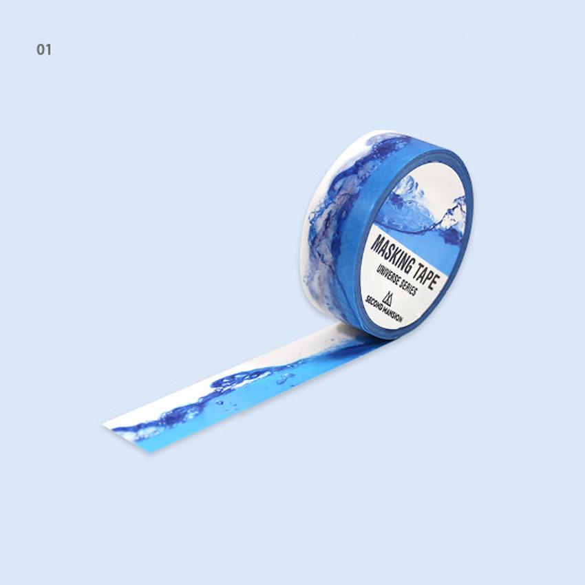 01 - Universe water 15mm width deco masking tape 07
