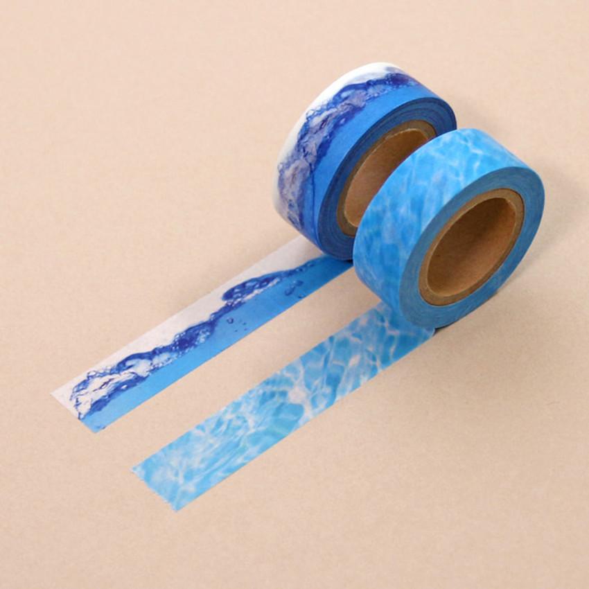 Universe water 15mm width deco masking tape 07