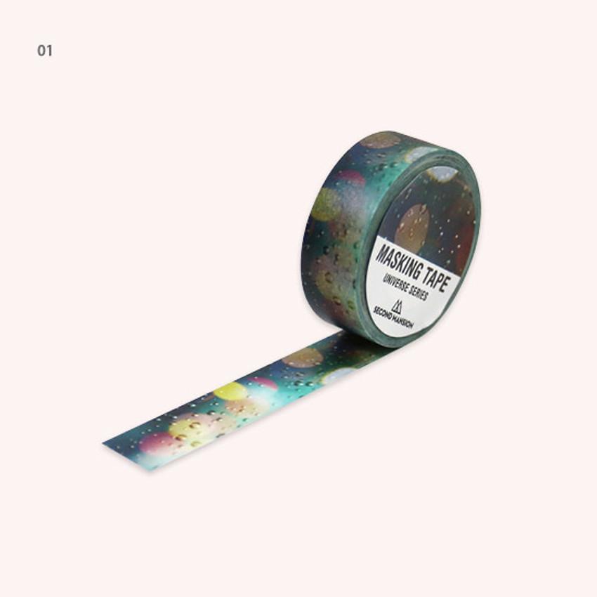 01 - Universe rain drop 15mm width deco masking tape 04