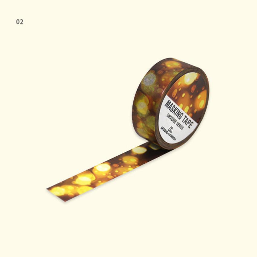 02 - Universe rain drop 15mm width deco masking tape 04