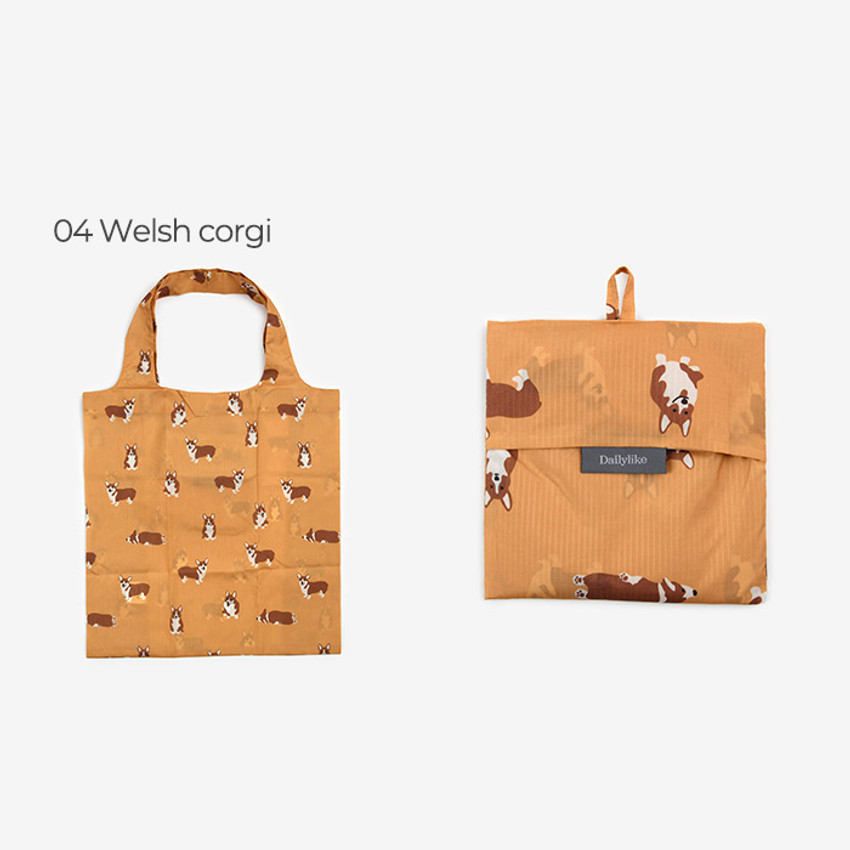 Welsh corgi - Dailylike Pocket XL shopping travel foldable shoulder bag